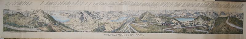 Stierlen-Hauser  Panorama von Rigi- Scheideck 1648 m üb. Meer