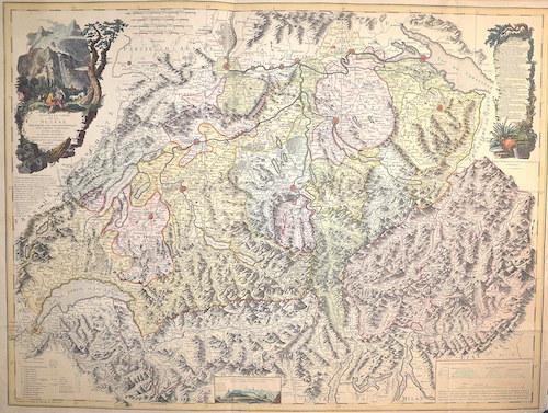 Faden William Nouvelle Carte de la Suisse dans laquelle sont exactement distingues Les Treize Cantons,…