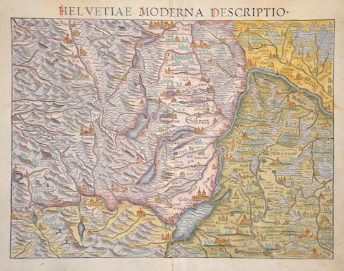 Ptolemy/Münster Sebastian  Helvetiae Moderna descriptio