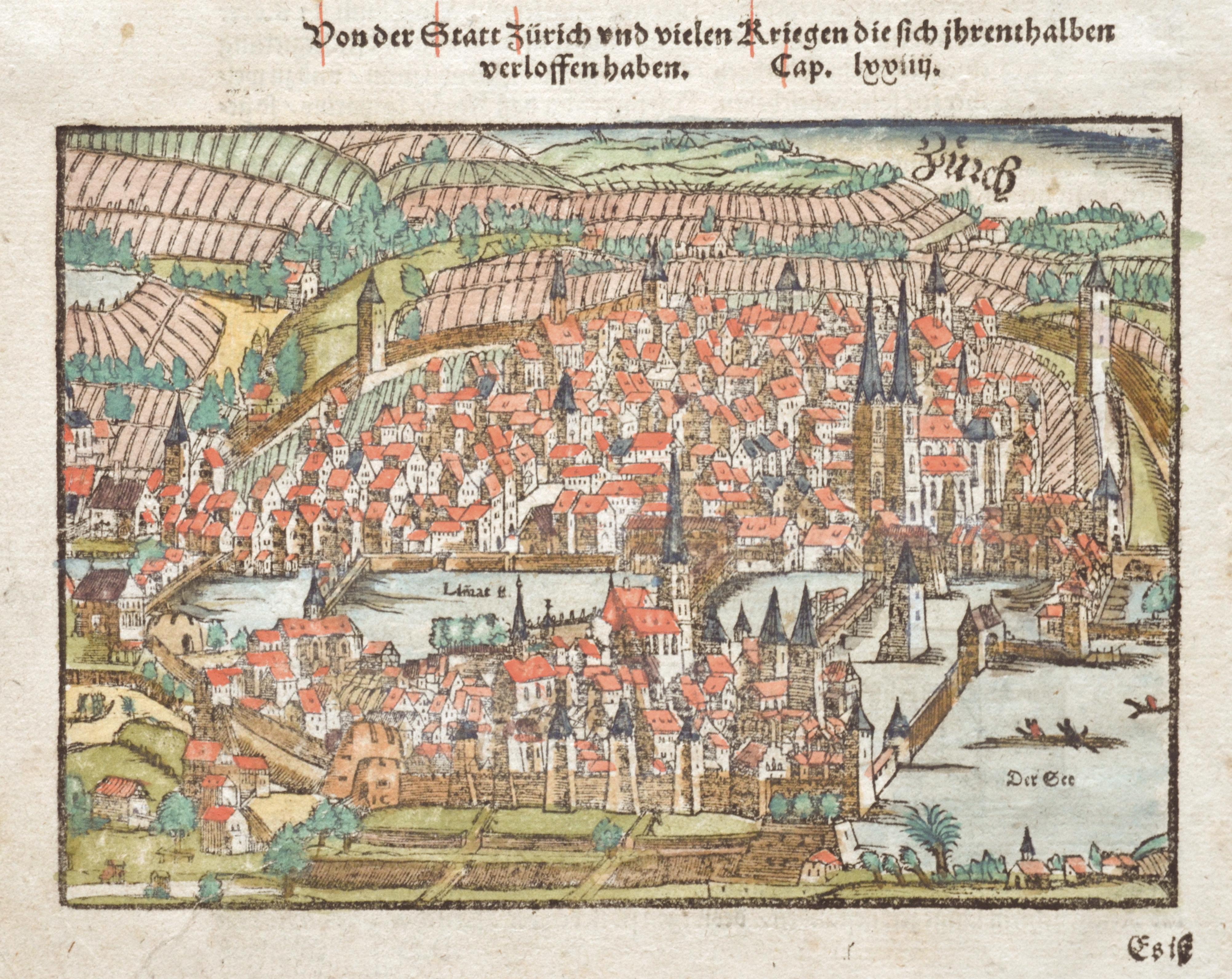 Münster Sebastian Von der Statt Zürich und vielen Kriegen die sich ihrenthalben verloffen haben.