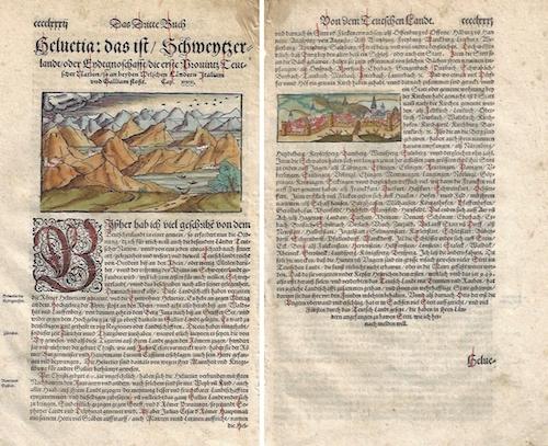 Münster Sebastian Das Dritte Buch / Helvetia: das ist / Schweytzerland / oder Eydtgnoschafft/ die erste Provintz Teutscher Nation / so an beyden Welschen Ländern..