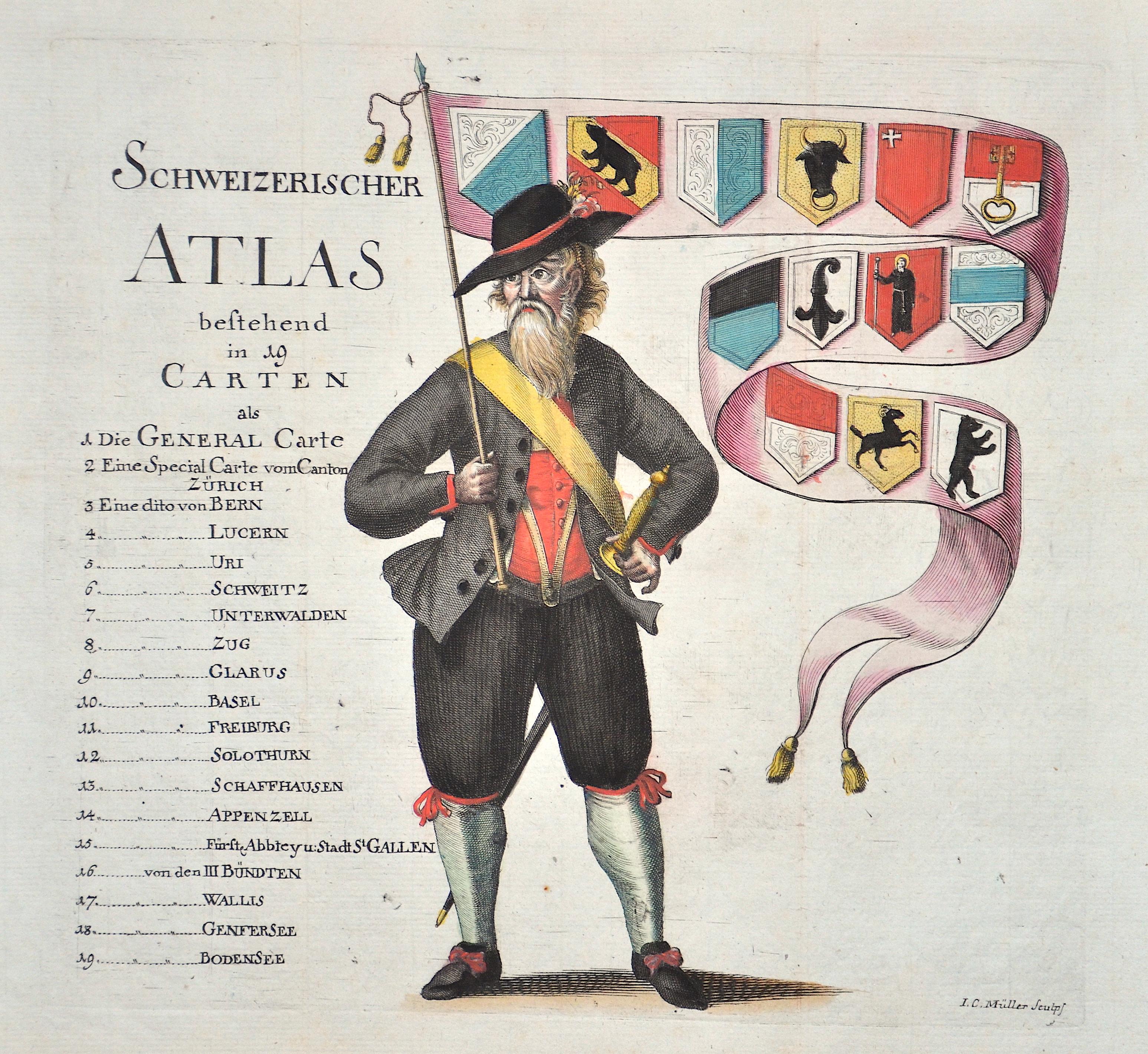 Müller J. C. Schweizerischer Atlas bestehend in 19 Carten