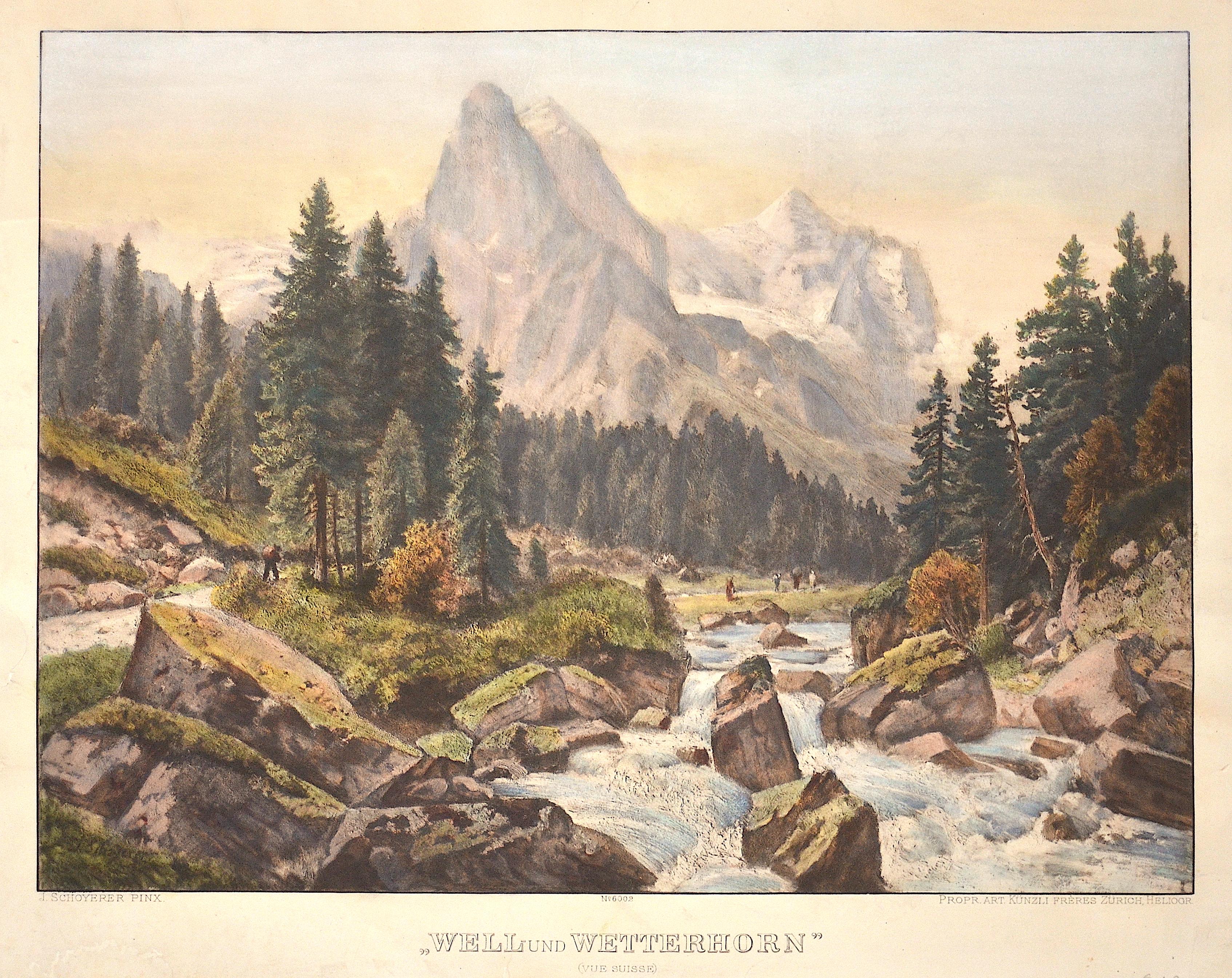 "Schoyerer Joseph ""Well- und Wetterhorn"" (Vue Suisse)"
