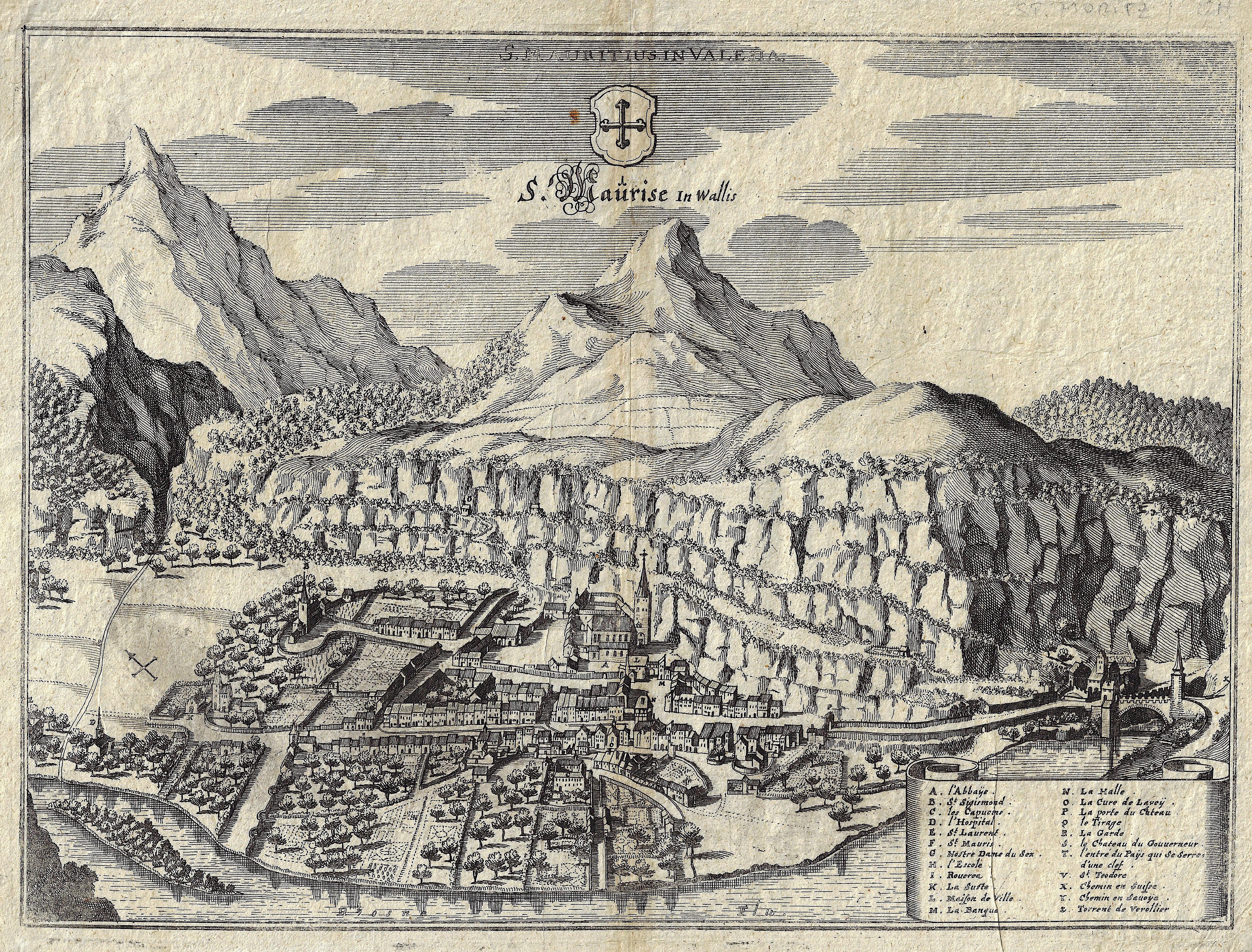 Merian Matthäus S. Maurise in Wallis / S. Mauritius in Valesia.
