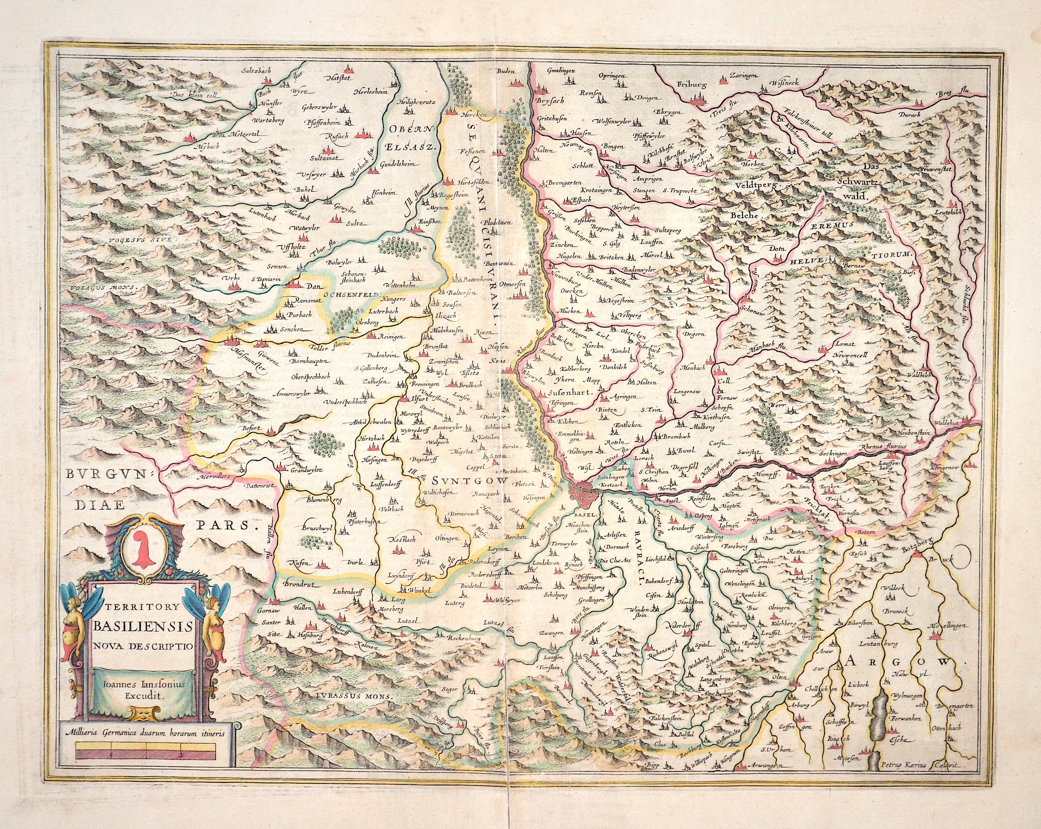 Janssonius/Kaerius Johann Terrotory Basliliensis nova descriptio