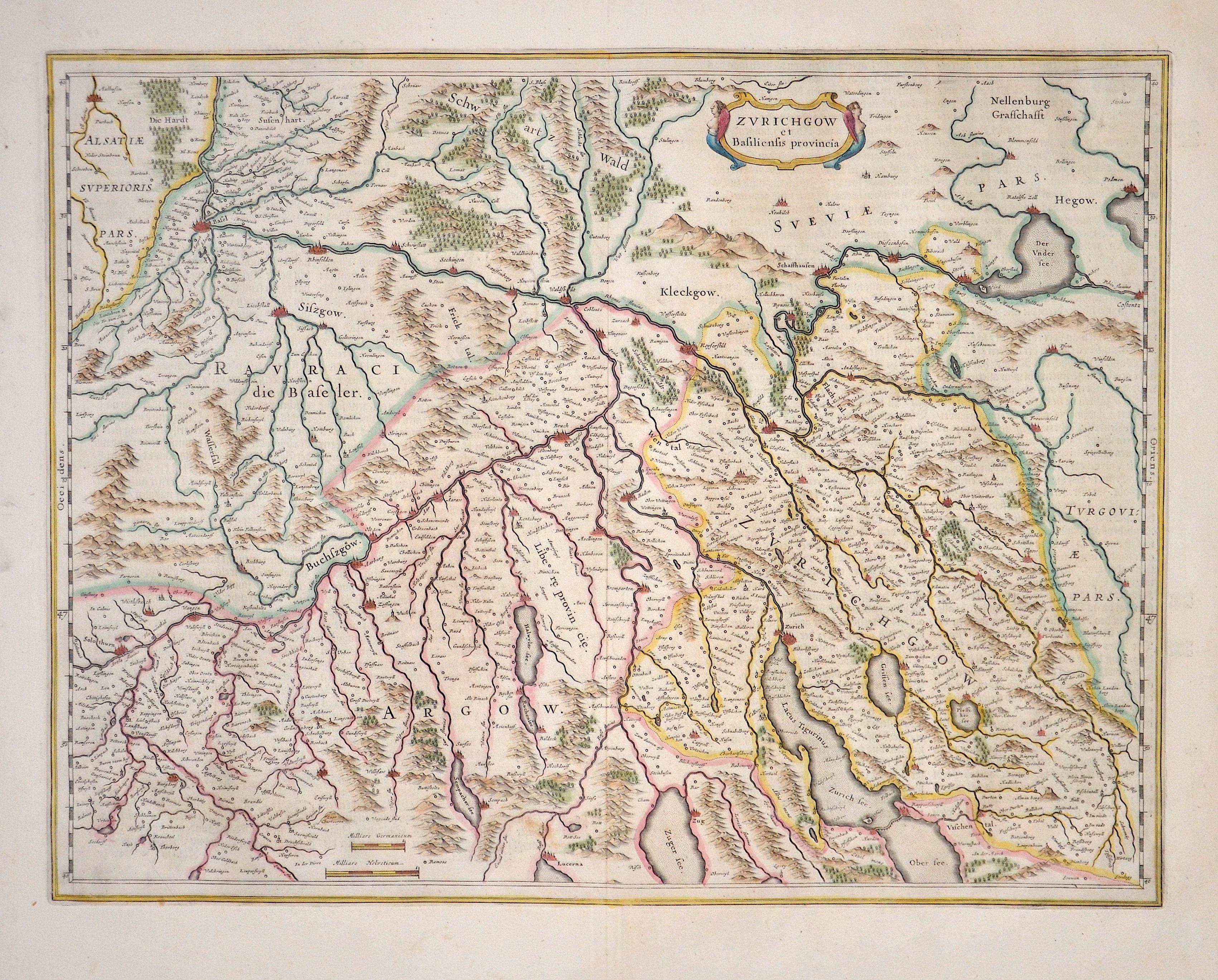 Janssonius Johann Zurichgow et Basiliensis provincia