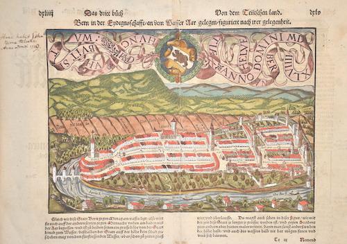 Münster  Bern in der Endtgnoschafft/an dem Wasser Nar gelegen/figuriert nach ihrer gelegenheit