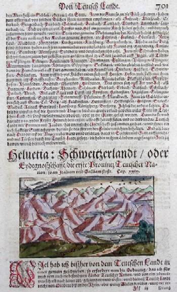 Münster Sebastian Helventia:Schweizer Landt/oder endtgnoszschafft/die erste Provintz Deutscher Nation/so an Italiam und Galiamm stoßt