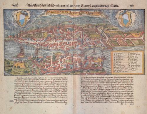 Münster  Der Satt Zürich in Helvetia/eine auss den uralten Stetten Teutschlandes wahre pictur