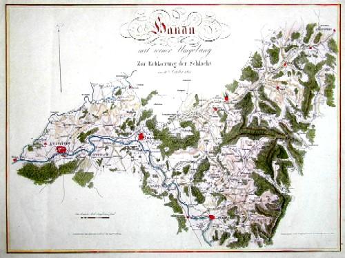 Schleich J. Hanau mit seiner Umgebung zur Erklaerung der Schlacht am 30. October 1813