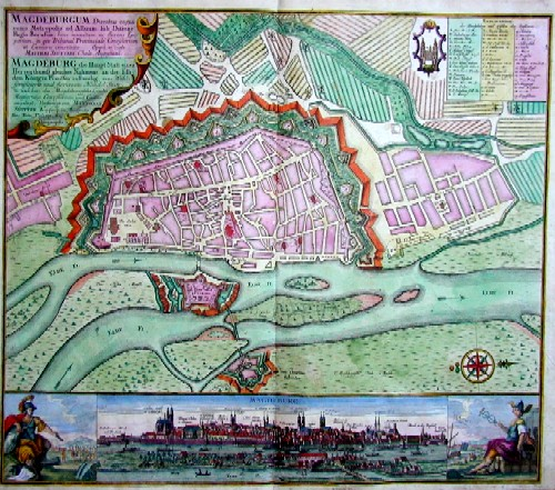 Seutter Matthias Magdeburg die Hauptstadt eines Herzugthumß gleiches Namens, an der Elb dem König in Preussen zustaendig…