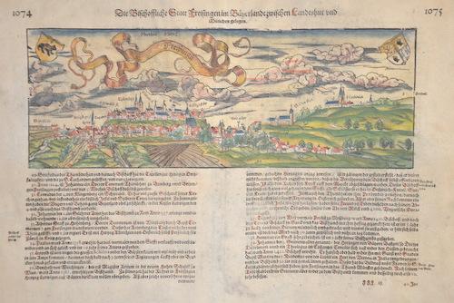 Münster  Die Bischoffliche Statt Freisingen im Bayerlandt zwischen landshut und München gelegen