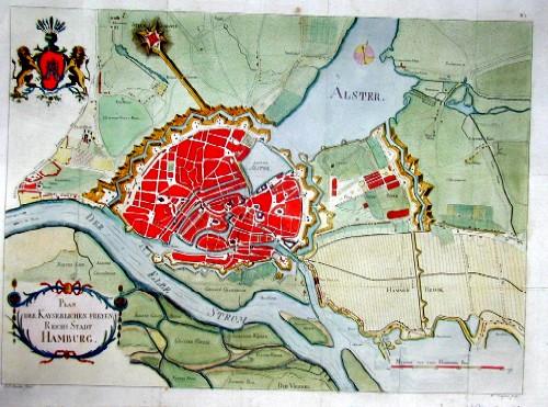 Reincke  Plan der Kayserlichen Freyen Reichs Stadt Hamburg