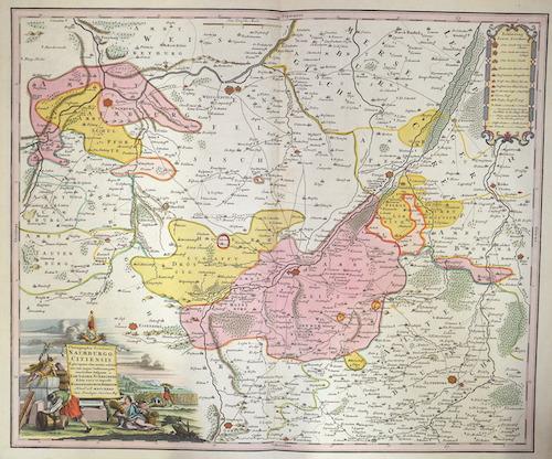 Homann Erben  Chorographia Territorii Naumburgocitiensis…