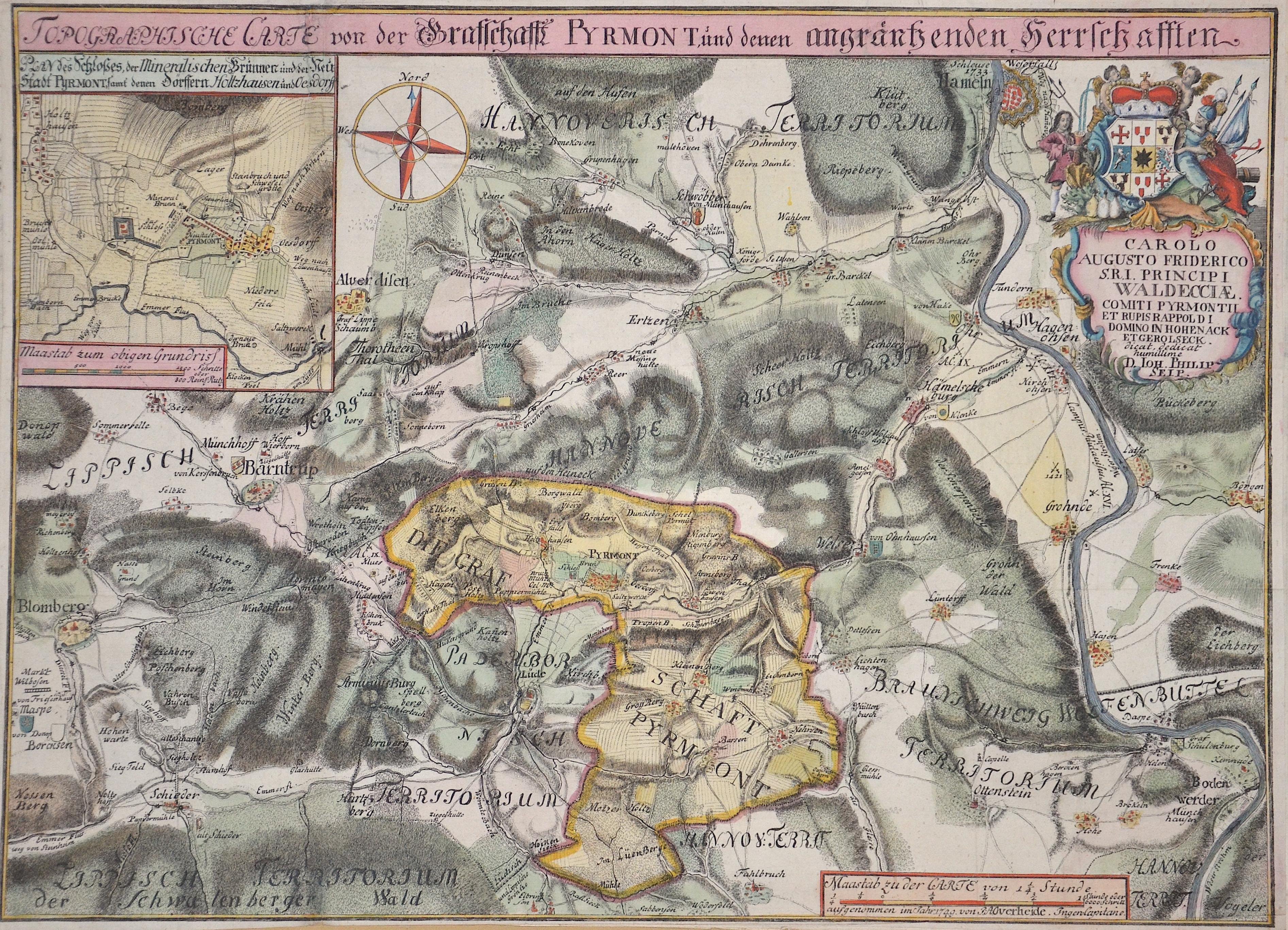 Seip Ph. Topographische Carte von der Grafschafft Pyrmont und denen angräntzenden Herrschaften