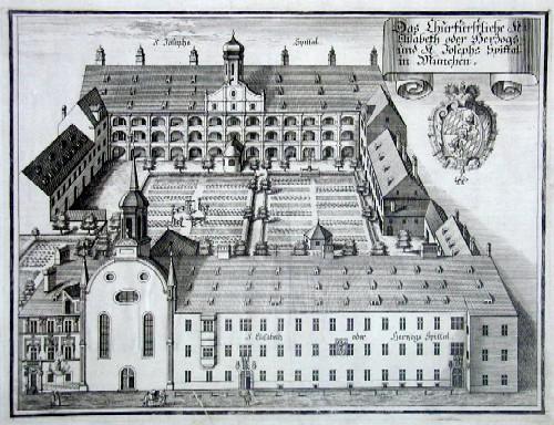 Wening  Das Churfürstliche St. Elisabeth oder Herzogs- und St. Josephs Spittal in München
