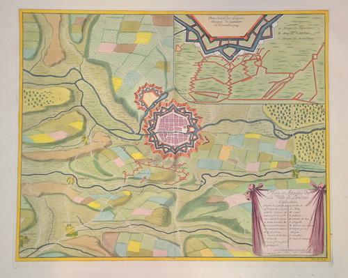 Call  Plan et Attaques de la ville de Landaw /Plan Exacte des Demieres Attaques de. Landaw . En Novembre 1704