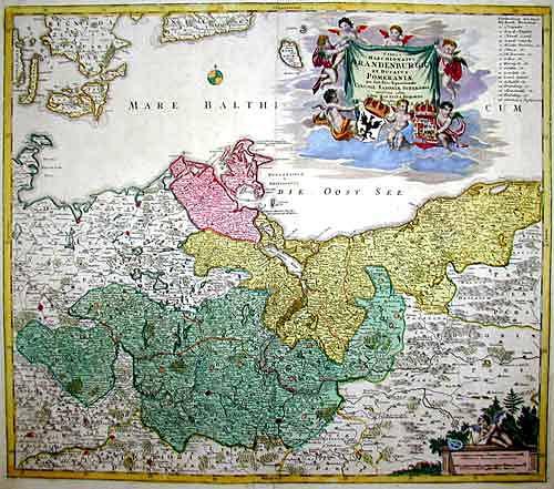 "Homann  Tabula Marchionatus Brandenburgici et Ducatus Pommeraniae…"""