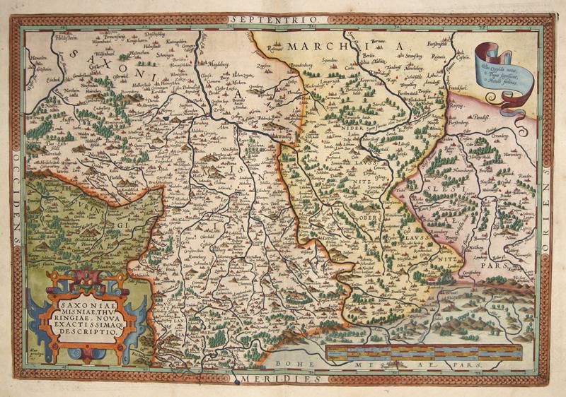 Ortelius Abraham Saxoniae, Misniae, Thuringiae, nova exactissimao descriptio