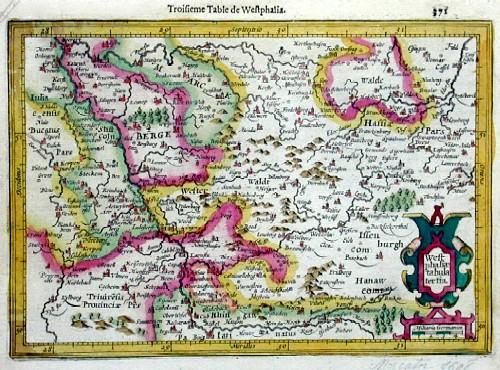 Mercator Gehard Westphaliae tabula tertia