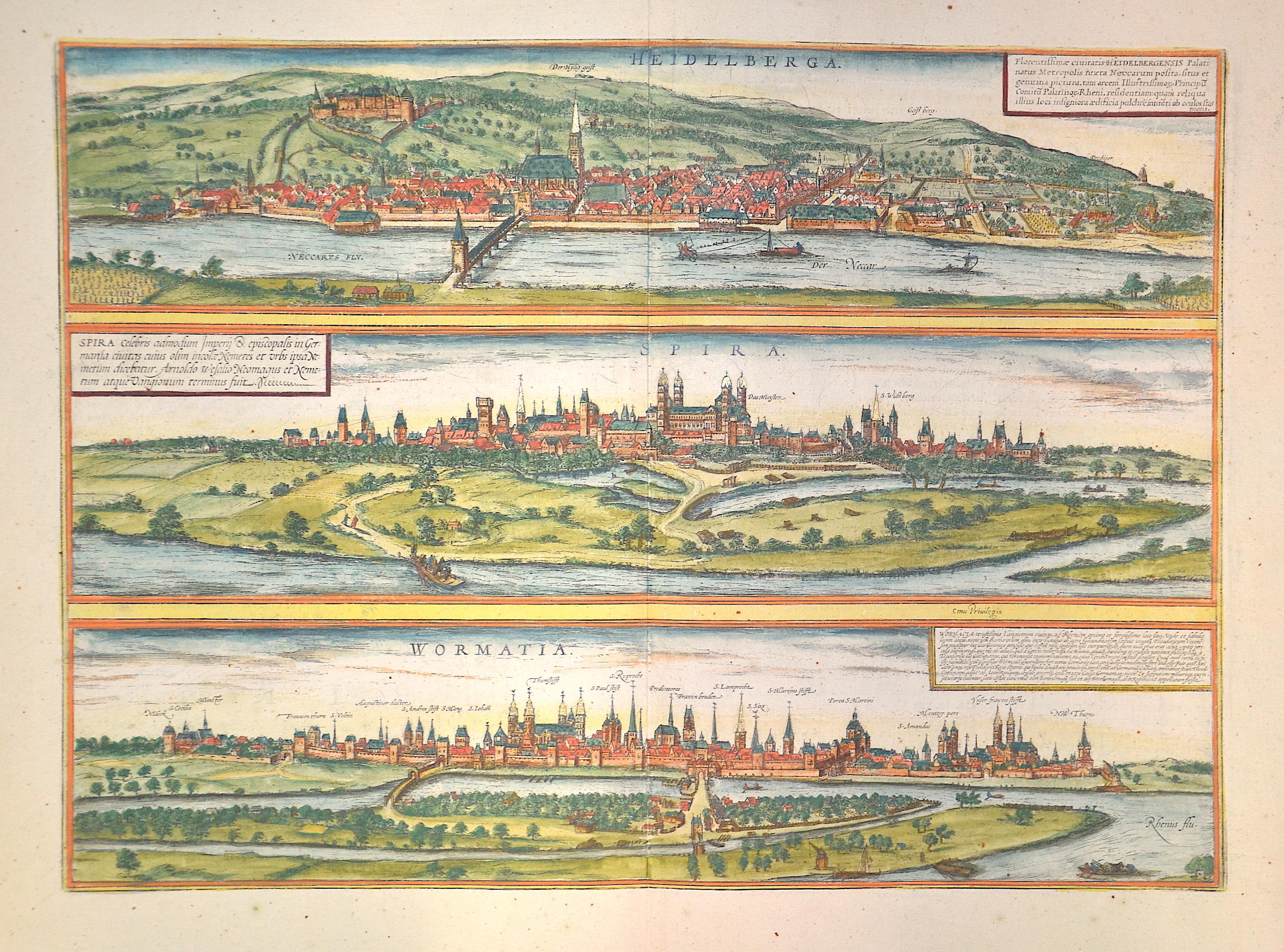 Braun/Hogenberg Franz/ Georg Spira/ Wormatia/Heidelberga