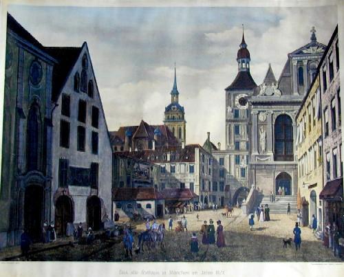 Müller  Das alte Rathhaus in München im Jahr 1824