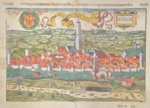 Münster  Weissenburg mit umbligender Landtschafft auff das allerfleissigest nach aller Gelegenheit Conrafehtet