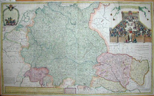Moll Hermann A new map of Germany. Hungary. Transivania and the Suisse Cantons……..
