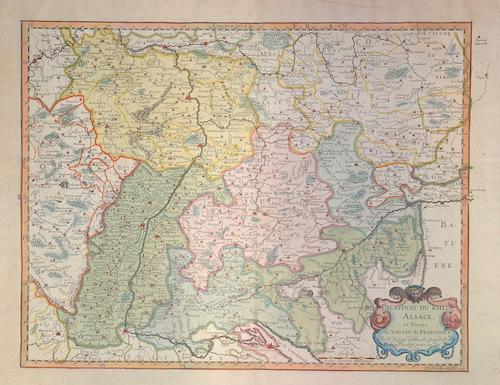 Sanson Nicolas Palatinat du Rhein, Alsace et partie de Souabe de Farnconie