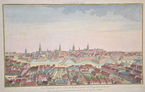 Huquier  Vue perspective de la ville de Berlin capitale du Royaume du Prusse