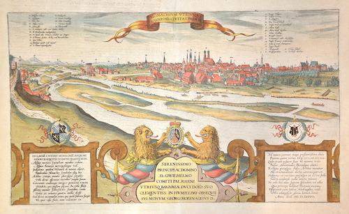 Braun/Hogenberg  Monchium utriusque Bavariae civitas primar