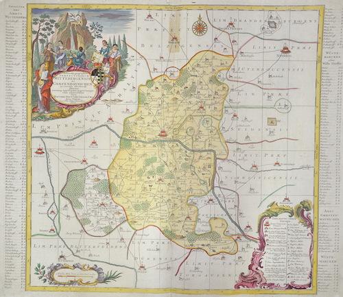 Seutter  Delineatio geographica Praefecturaum Wittebergensis et Graefenhainichen……