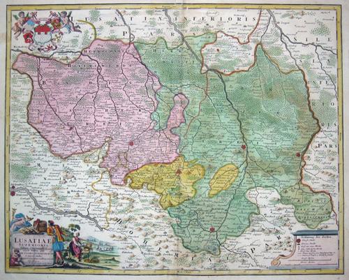 Homann Erben  Lusatiae superioris tabula chorographica exacte tradita