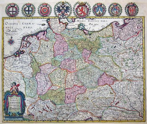 Merian Matthäus Nova totius Germaniae descriptio Teütschland
