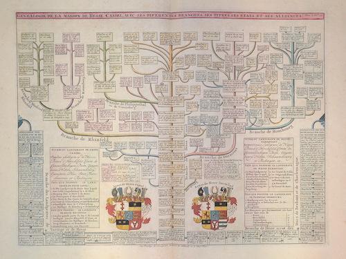 Chatelain  Genealogie de la maison de Hesse Cassel, avec ses differantes branches, ses titres, ses etats et ses aliances