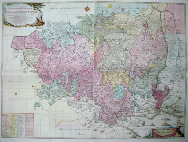 Schenk  Geograph.delineation des zu denen Kursächsischen Landen gehörigen Marggraftums Oberlausitz….