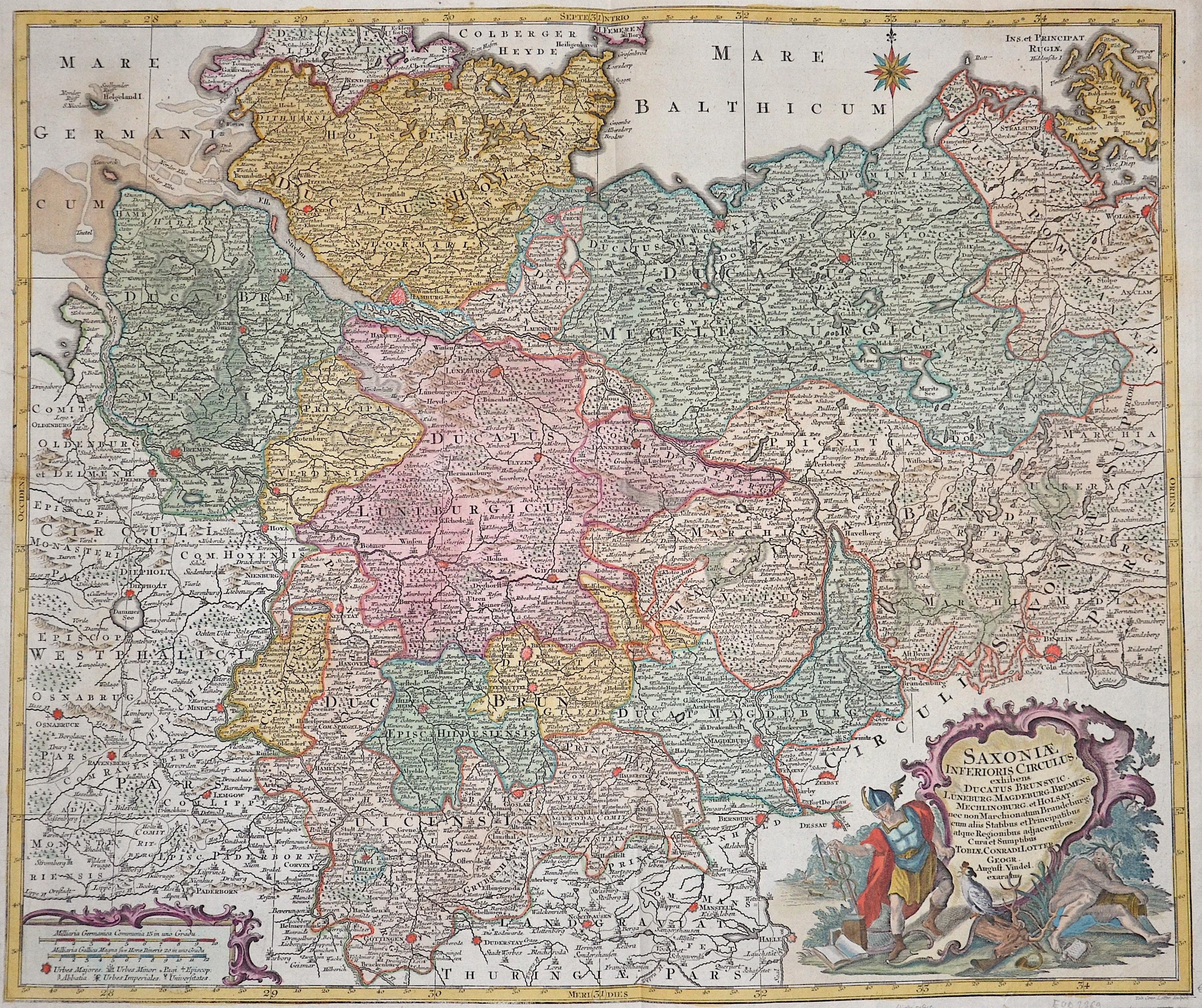 Lotter Tobias Conrad Saxoniae Inferioris circulus, exhibens ducatus Brunswick