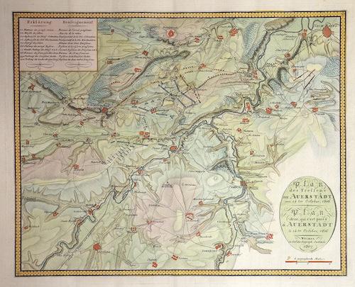 Anonymus  Plan des Treffens bey Auerstädt am 14ten Oktober, 1806