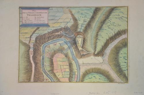 Iom  Plan de la ville et chateau de Traarbach