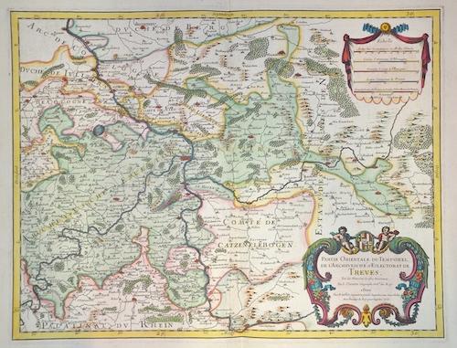 Sanson Nicolas Partie orientale du temporel, de l´ Archevesche et Eslectorat de Treves