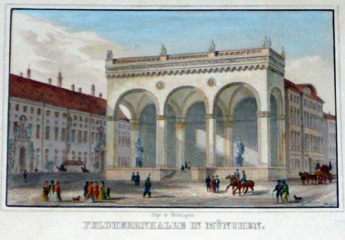 Poppel  Feldherrnhalle in München