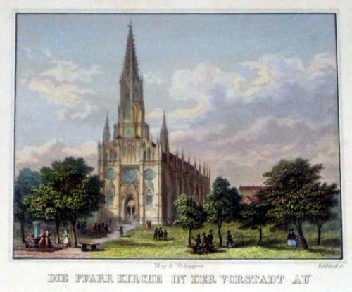 Kublitscheck  Die Pfarr Kirche in der Vorstadt Au