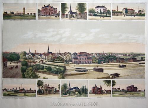 Anonymus  Panorama von Gütersloh