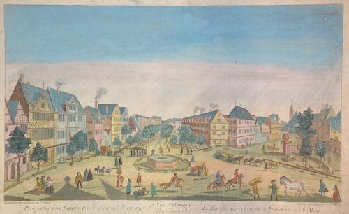 Daumont Jean-Francois Prospectus fori Equini Francofurti ad Maenum/ Le Marché aux Chevaux a Francfort sur le Mein