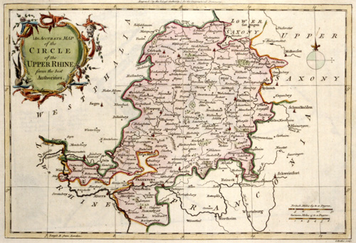 Rollos G. An accurate map of the circle of the upper Rhine ……