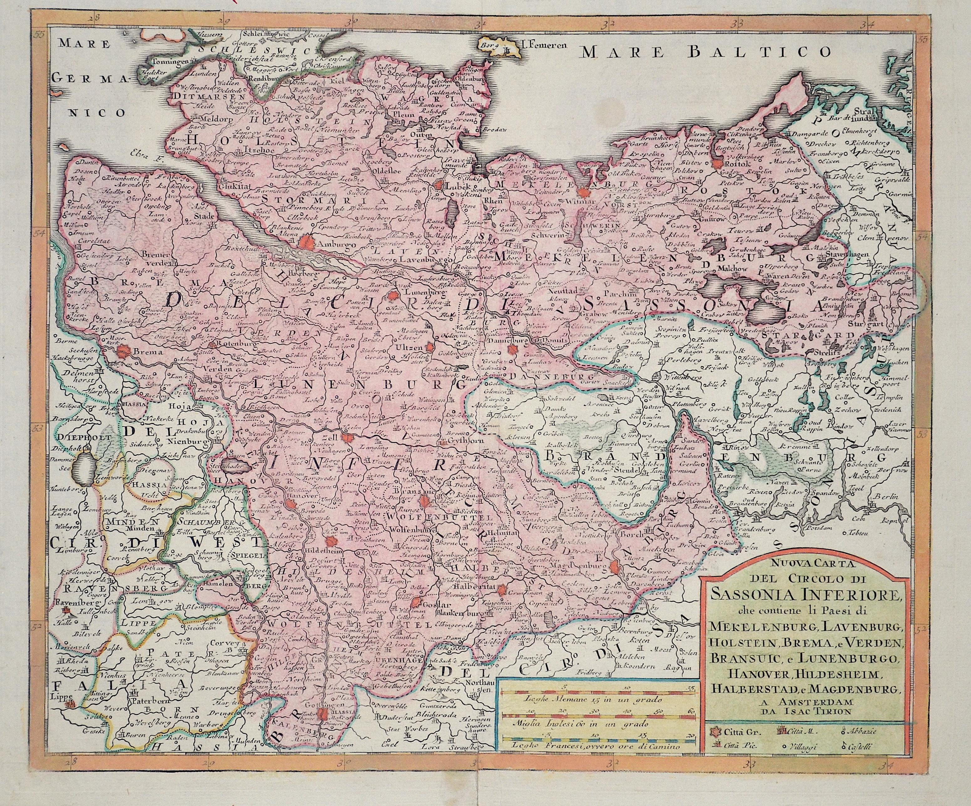 Tirion Isaak Nuova Carta del circolo di Sassonia inferiore…
