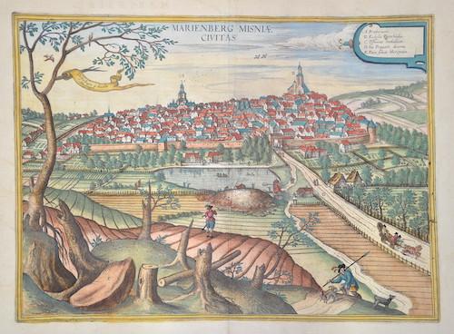 Braun/Hogenberg Franz/ Georg Marienberg Misniae Civitas