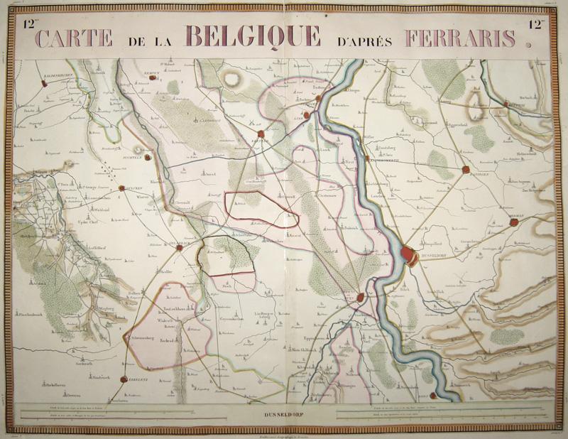 Anonymus  Carte de la Belique d´après Ferraris.