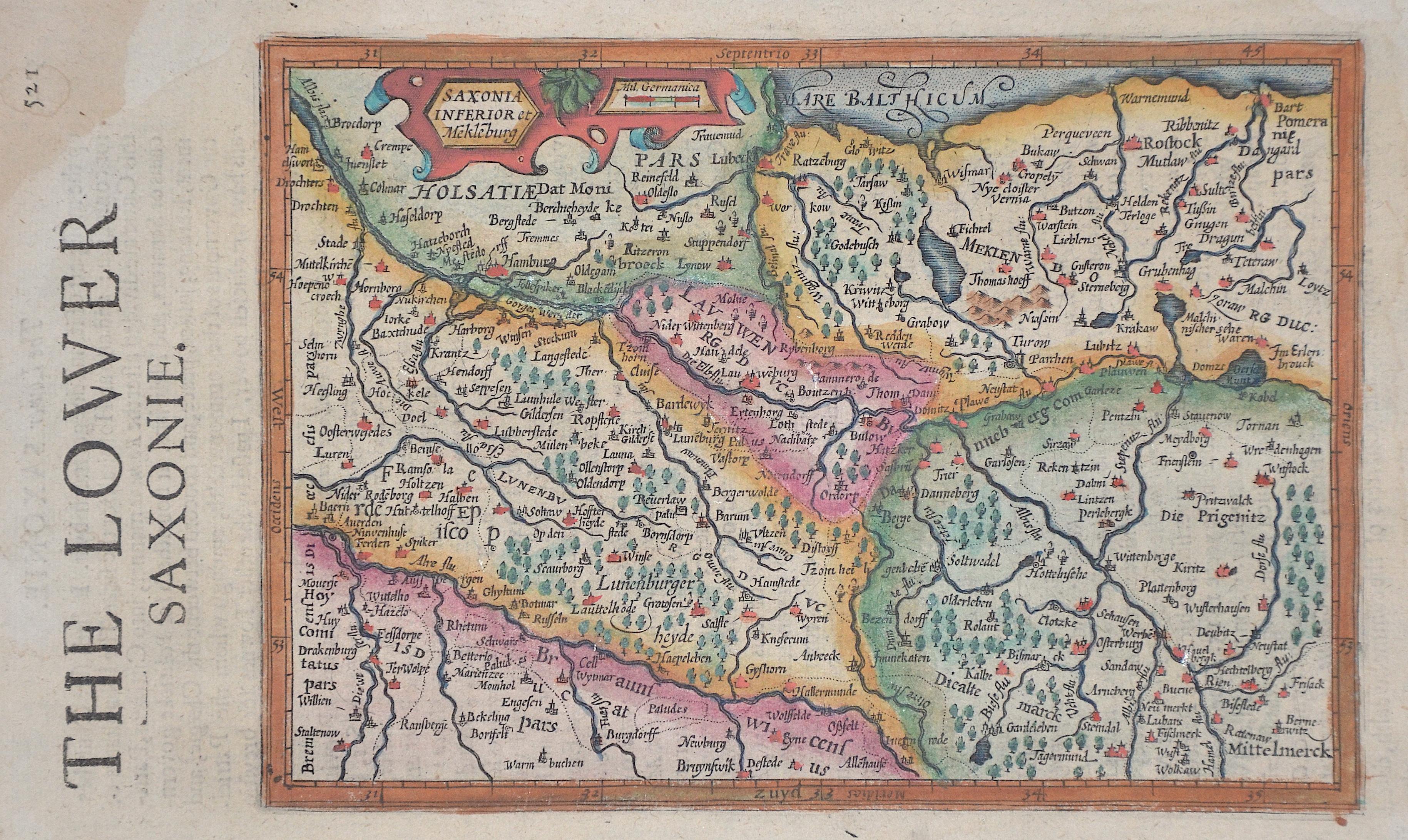 Sparke Michael The Lower Saxonie/ Saxonia Inferior et Mekleburg