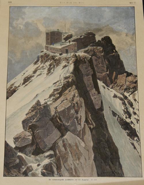 Platz  Die Metreologische Hochstatin auf der Zugspitze